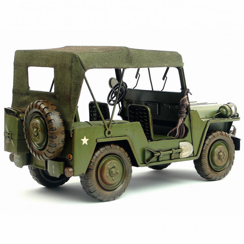 Retro Tin vehicle model 1940 edition handmade Antique Iron gift military vehicles decoration home collection iron
