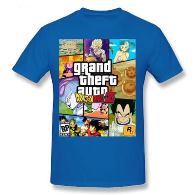 T-Shirt Dragon Ball Z Grand Theft Auto (GTA) - iONiQ SHOP