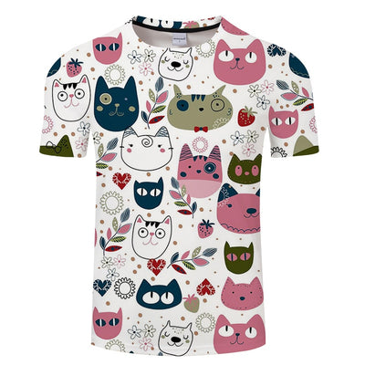 T-Shirt Cartoon Kitty Cats | Chat Dessin - iONiQ SHOP