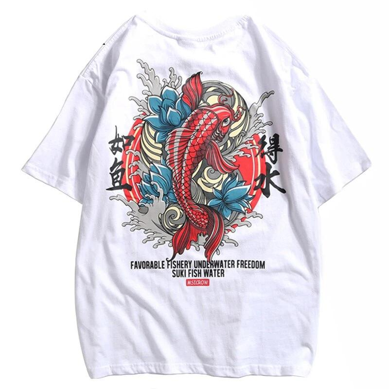 Street Wear T-Shirt Fish Suki | Japan Urban Wear