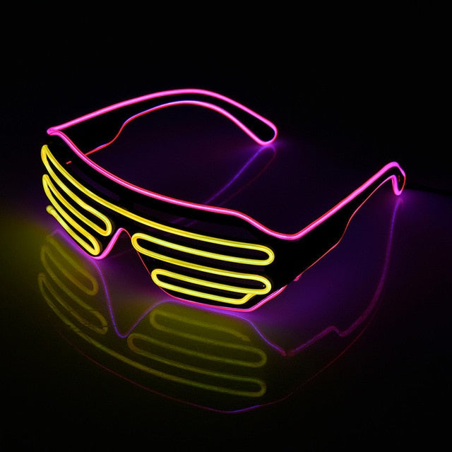 Lunettes LED Lumineuses - Glowing Neon Glasses