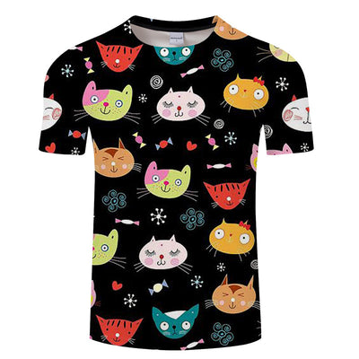T-Shirt Cartoon Kitty Cats | Chat Icon - iONiQ SHOP