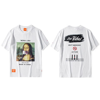 T-Shirt Mona Lisa smoking - iONiQ SHOP