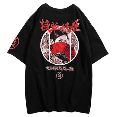 Street Wear T-Shirt Geisha | Japan Urban Wear