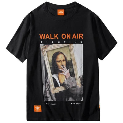 Street Wear T-Shirt Smoking Mona Lisa | Japan Urban Wear