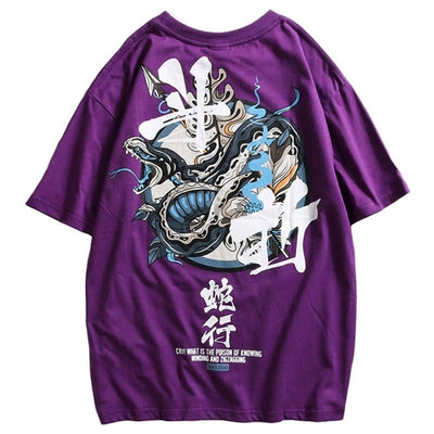 STREET WEAR T-SHIRT SNAKE | JAPAN URBAN WEAR