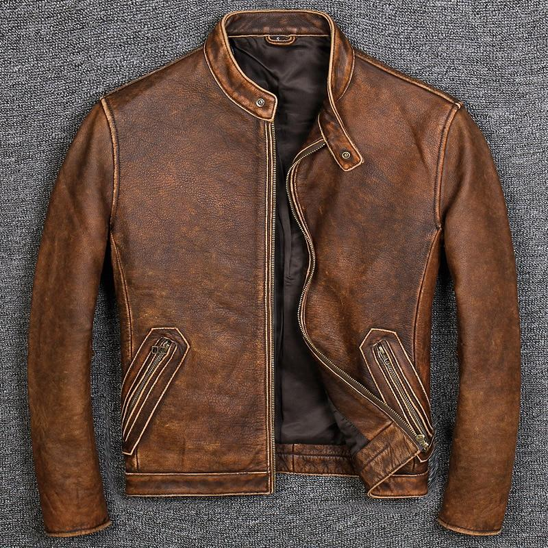Veste en Cuir Mao édition Copper type RESDKINS
