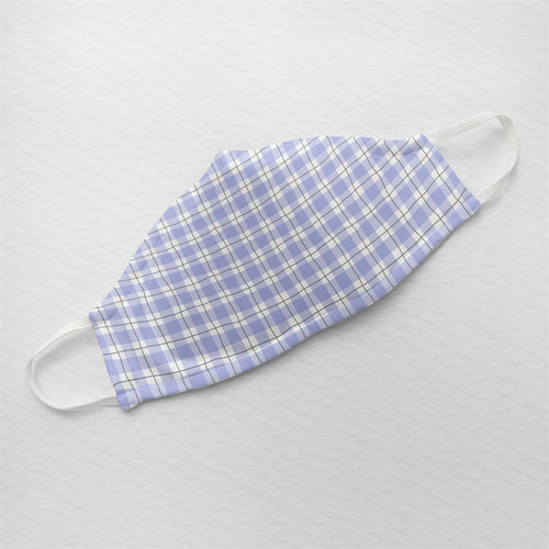 Mauve Checkered Gingham - Minimal Formals | Illustrated Premium Face Mask