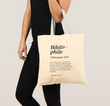 Load image into Gallery viewer, Bibliophile Premium Canvas Tote Bag - MyDoodlesAteMe