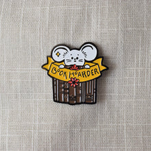 Load image into Gallery viewer, Book Hoarder Enamel Pin - MyDoodlesAteMe