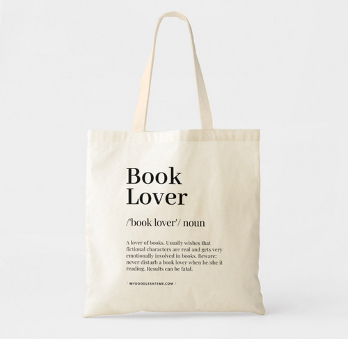 Book Lover Premium Canvas Tote Bag - MyDoodlesAteMe