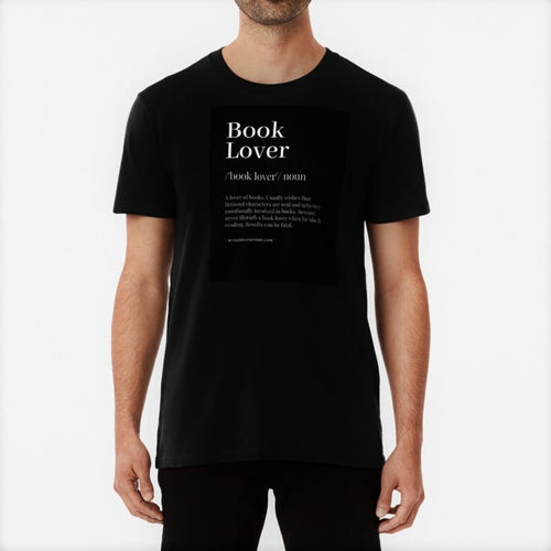 Book Lover Unisex Premium Cotton T-Shirt (Black) - MyDoodlesAteMe