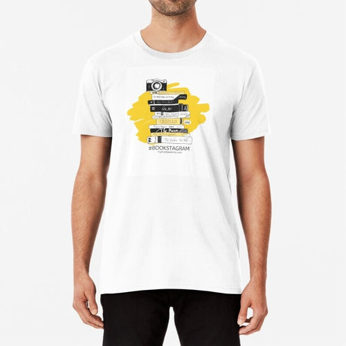 Hashtag Bookstagram Bookish Unisex Premium Cotton T-Shirt (White) - MyDoodlesAteMe