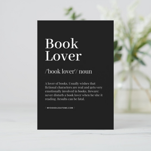 Bibliophile & Book Lover Bookish Postcards (Set of Two) - MyDoodlesAteMe