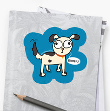 Load image into Gallery viewer, Bork Dog Lover Laptop Sticker - MyDoodlesAteMe