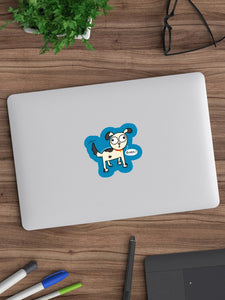 Bork Dog Lover Laptop Sticker - MyDoodlesAteMe