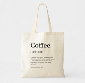 Coffee Premium Canvas Tote Bag - MyDoodlesAteMe
