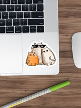Load image into Gallery viewer, Gangsta Cats Laptop Sticker - MyDoodlesAteMe