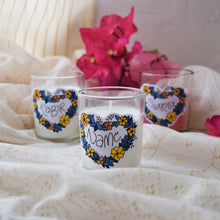 Load image into Gallery viewer, Personalized Custom Name 'Cutting Chai' Glass Candle - MyDoodlesAteMe