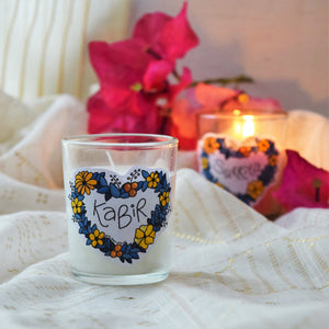 Personalized Custom Name 'Cutting Chai' Glass Candle - MyDoodlesAteMe