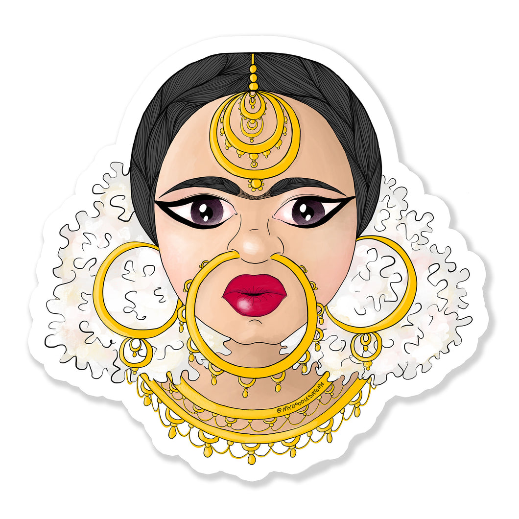 Devi ~ Own Your Inner Goddess Woman Laptop Sticker - MyDoodlesAteMe