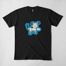 Load image into Gallery viewer, Doggo Bork Puppy Unisex Premium Cotton T-Shirt (Black) - MyDoodlesAteMe