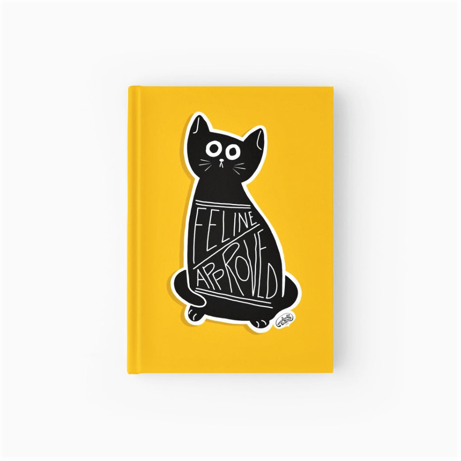 Feline Approved Softcover Journal - MyDoodlesAteMe