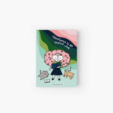 Load image into Gallery viewer, Happiness is an Inside Job! Bookish Literary Softcover Jotbook & Pocket Notebook - MyDoodlesAteMe