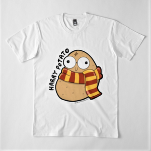 Harry Potato Unisex Premium Cotton T-Shirt (White) - MyDoodlesAteMe