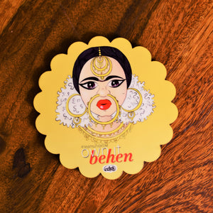 Own It Behen Scallop Coaster - MyDoodlesAteMe