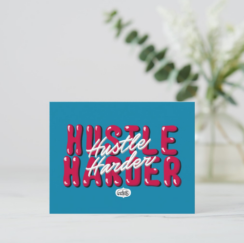 Hustle Harder Postcards (Set of Two) - MyDoodlesAteMe