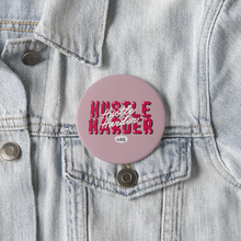 Load image into Gallery viewer, Injured Goodies > Hustle Harder (Blush Pink) Pin Badge - MyDoodlesAteMe