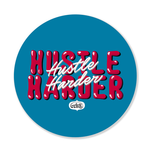Hustle Harder Laptop Sticker - MyDoodlesAteMe