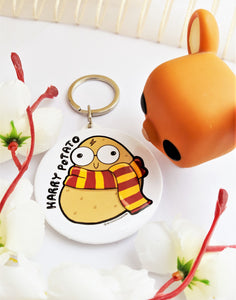 Harry Potato Hand Mirror & Keychain - MyDoodlesAteMe