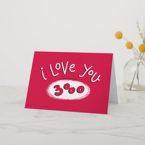 I love you 3000 Greeting Card - MyDoodlesAteMe