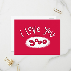 I love you 3000 Postcards (Set of Two) - MyDoodlesAteMe