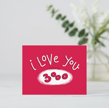 Load image into Gallery viewer, I love you 3000 Postcards (Set of Two) - MyDoodlesAteMe