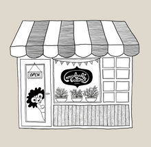"Load image into Gallery viewer, Eco-friendly ""Doodle Shop"" Cotton Carry Bag - MyDoodlesAteMe"