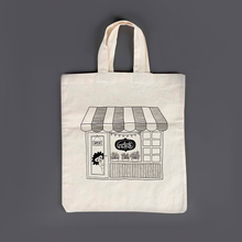 "Load image into Gallery viewer, Limited Edition Eco-friendly ""Doodle Dukaan"" Cotton Carry Bag - MyDoodlesAteMe"