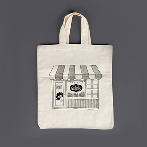 "Eco-friendly ""Doodle Shop"" Cotton Carry Bag - MyDoodlesAteMe"