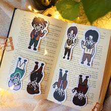 Load image into Gallery viewer, MyDoodlesAteMe 'Oppas! The Best Boys' Magnetic Bookmarks (Set of Seven) - MyDoodlesAteMe