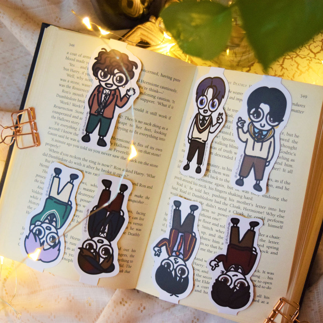 MyDoodlesAteMe 'Oppas! The Best Boys' Magnetic Bookmarks (Set of Seven) - MyDoodlesAteMe