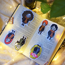 Load image into Gallery viewer, MyDoodlesAteMe 'The Witches & the Wizards' Magnetic Bookmarks (Set of Six) - MyDoodlesAteMe