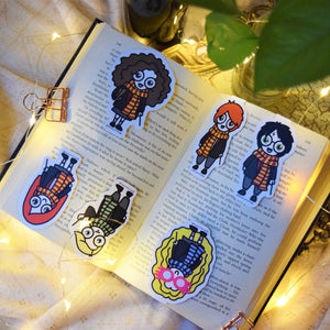 MyDoodlesAteMe 'The Witches & the Wizards' Magnetic Bookmarks (Set of Six) - MyDoodlesAteMe
