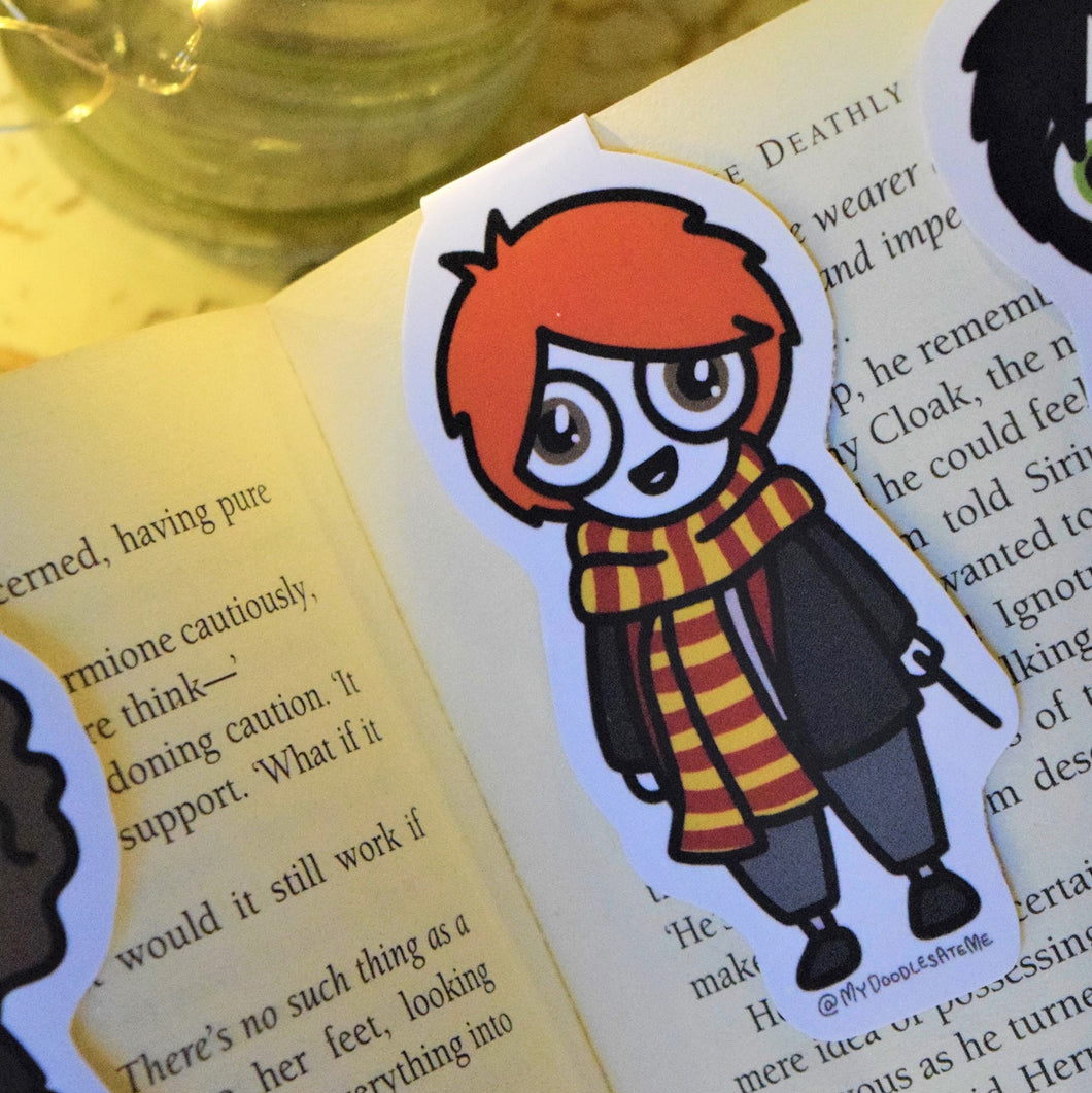 'The Witches & the Wizards' Magnetic Bookmark - Ron