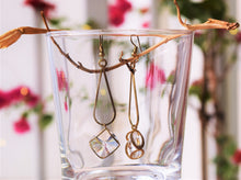 Load image into Gallery viewer, Crystal Rustic Gold Danglers - MyDoodlesAteMe