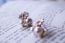 Load image into Gallery viewer, Daisy on Pearls Studs - MyDoodlesAteMe