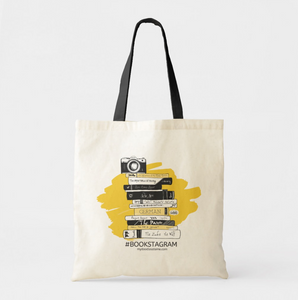 Hashtag Bookstagram Premium Canvas Tote Bag - MyDoodlesAteMe