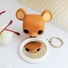 Load image into Gallery viewer, 'Bork!' Dog Lover Hand Mirror & Keychain (Ocean Blue) - MyDoodlesAteMe