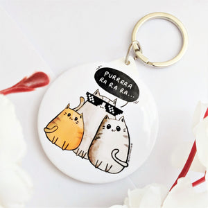 Gangsta Cats Pocket Mirror & Keychain - MyDoodlesAteMe